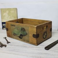 Isetta Bubble Car Box Lovely Rustic Wooden Crate